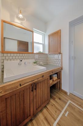 パウダールーム、洗面台