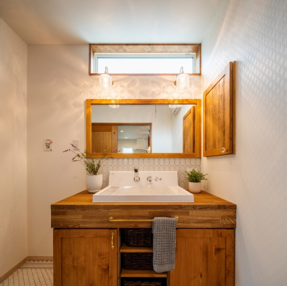 広くて使いやすい洗面所