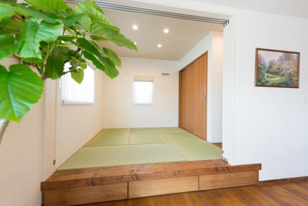 落ち着く畳のスペース。