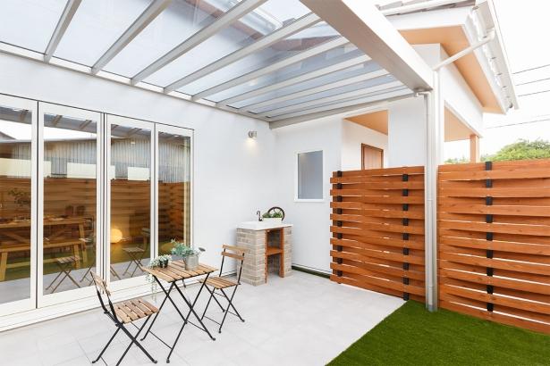 屋根付きの中庭